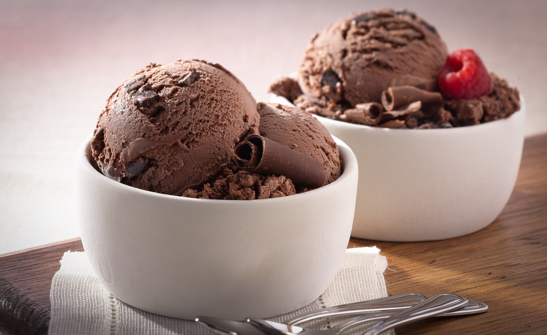 Dark Chocolate Chunk Ice Cream Photo