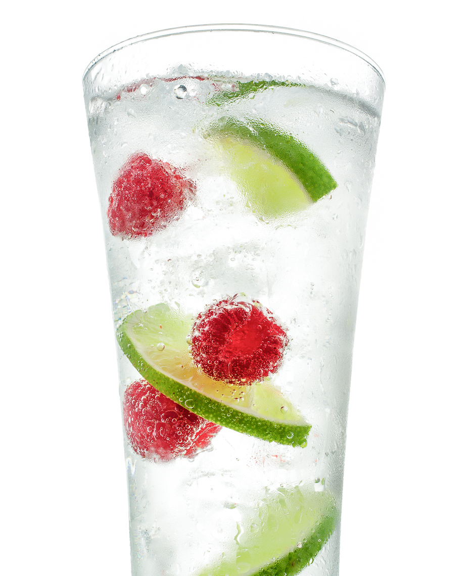 Raspberry Lime Soda Water Drink Photo