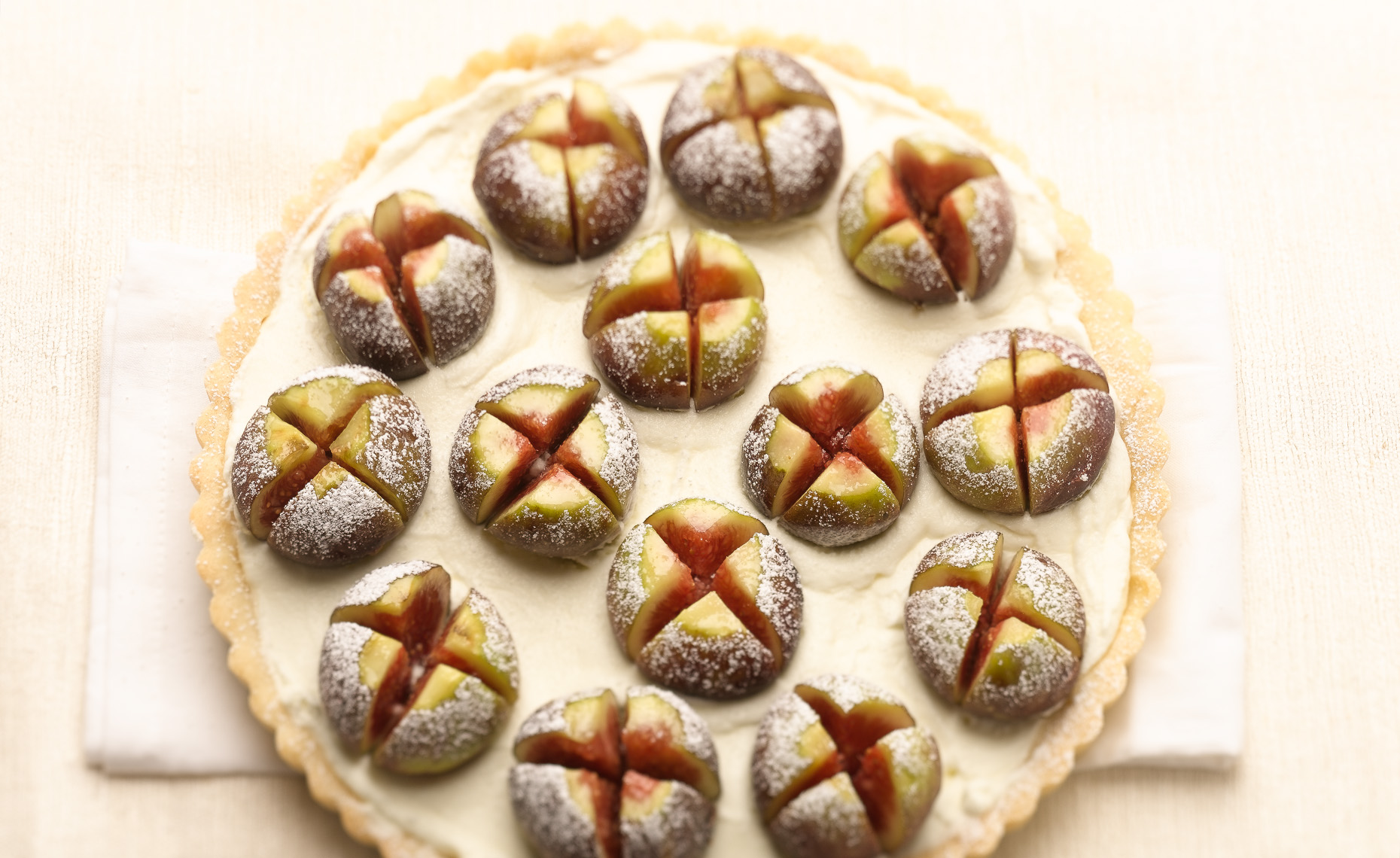 Fig Tart Editorial Dessert Photo