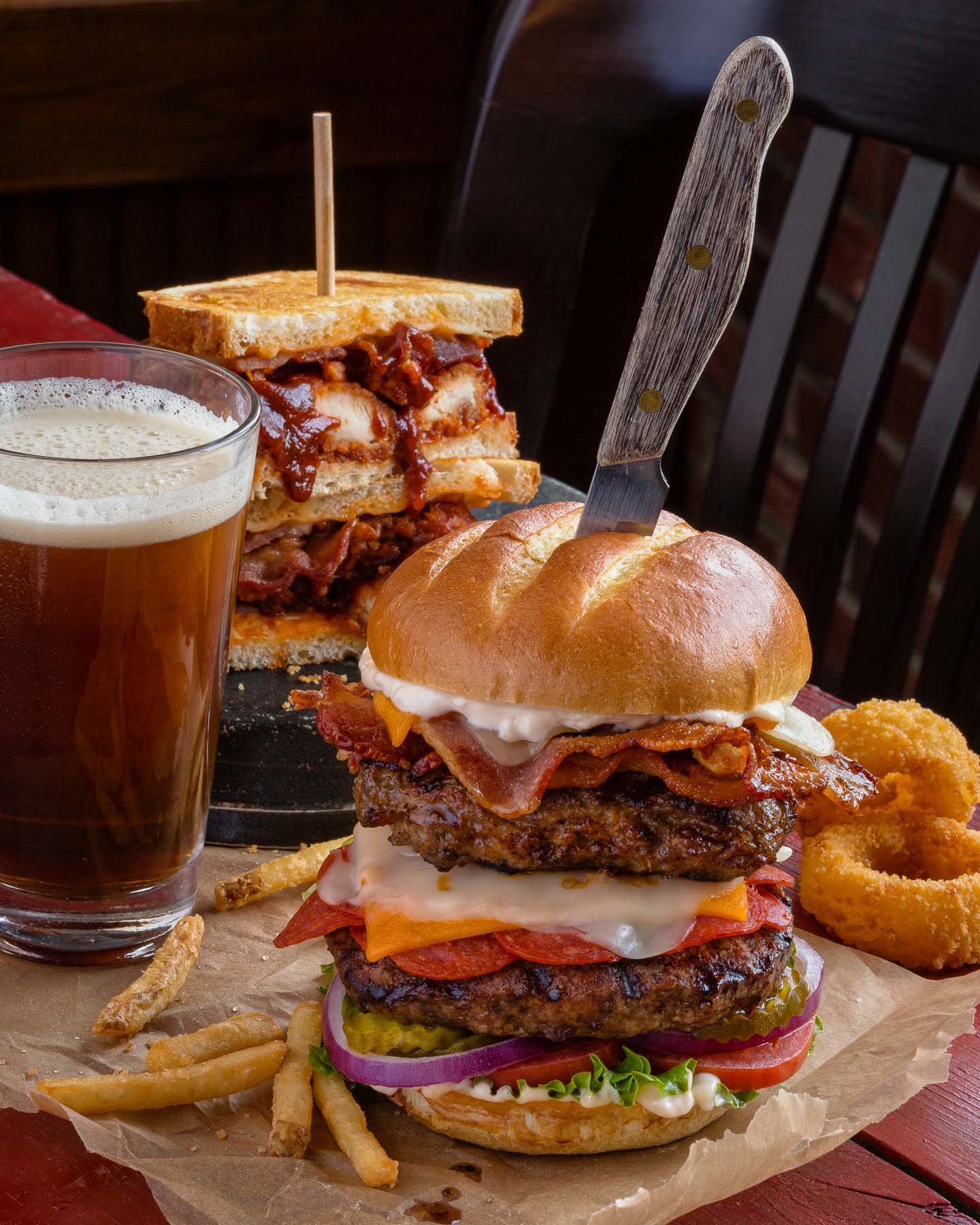 Burgers and beer Food Photo
