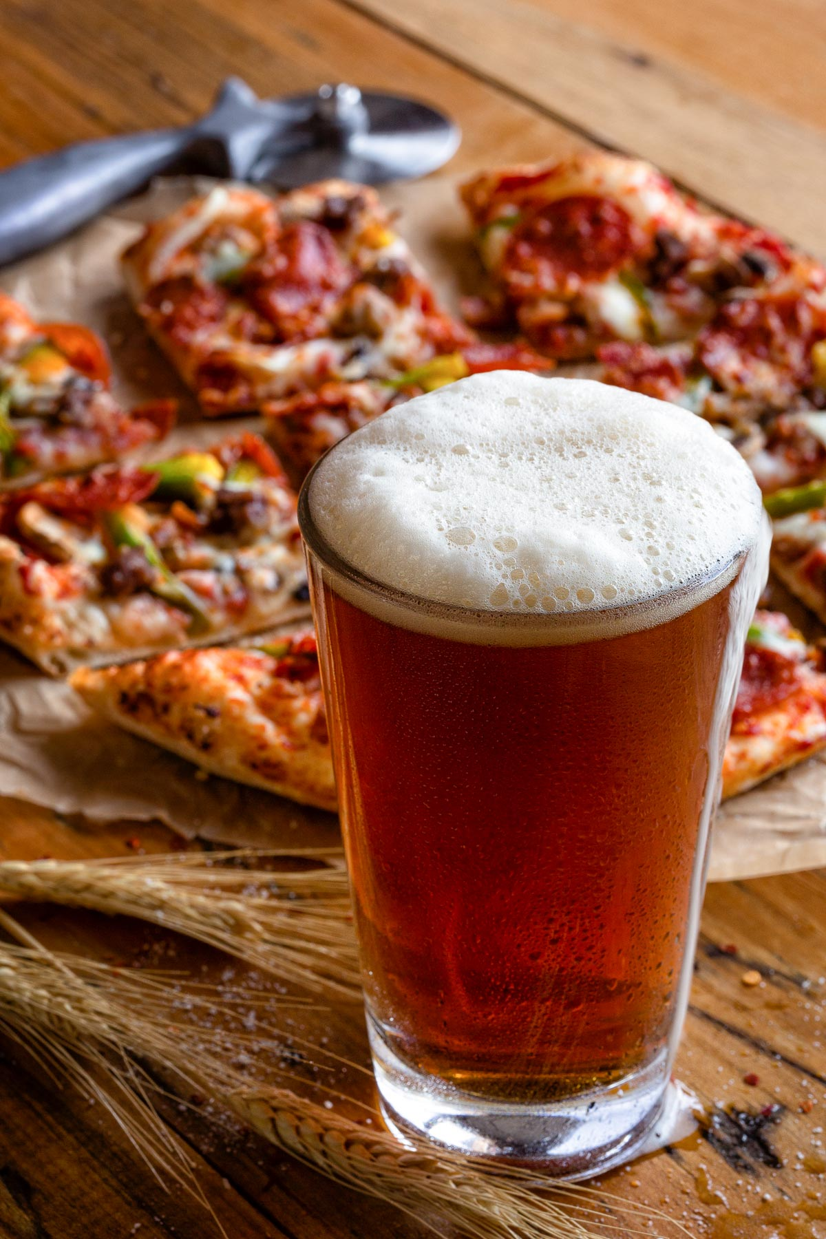 Pizza & Beer Photo