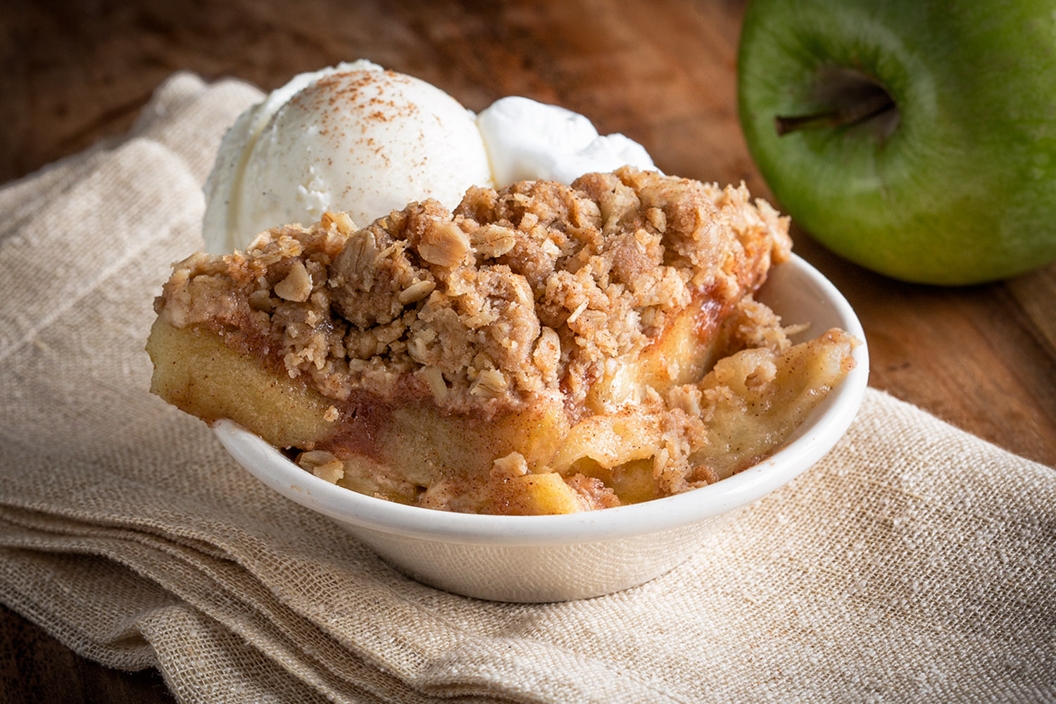 Apple Crisp Menu Photo
