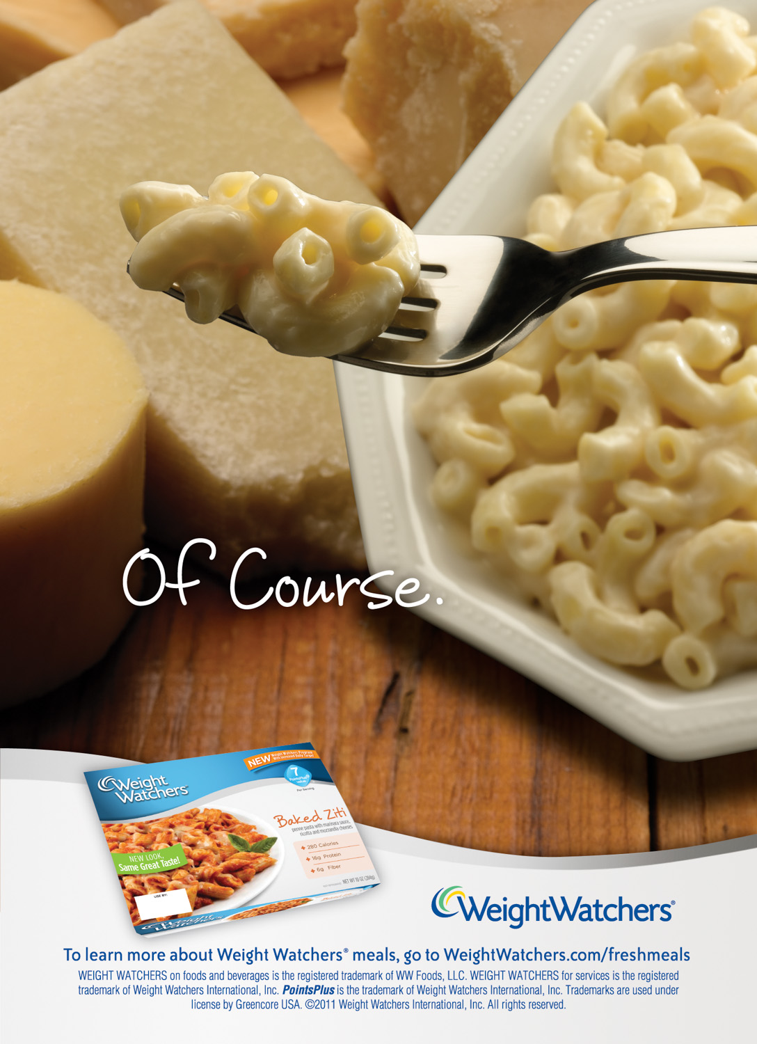Weight Watcher Macaroni & Cheese Ad