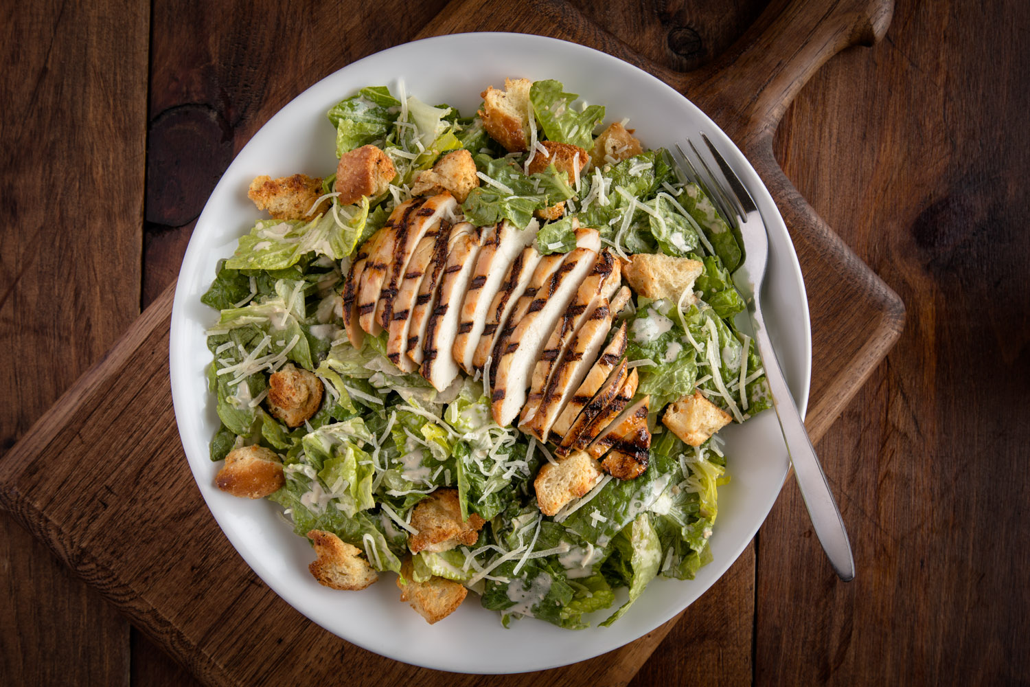 Chicken Caesar Salad Restaurant Photo