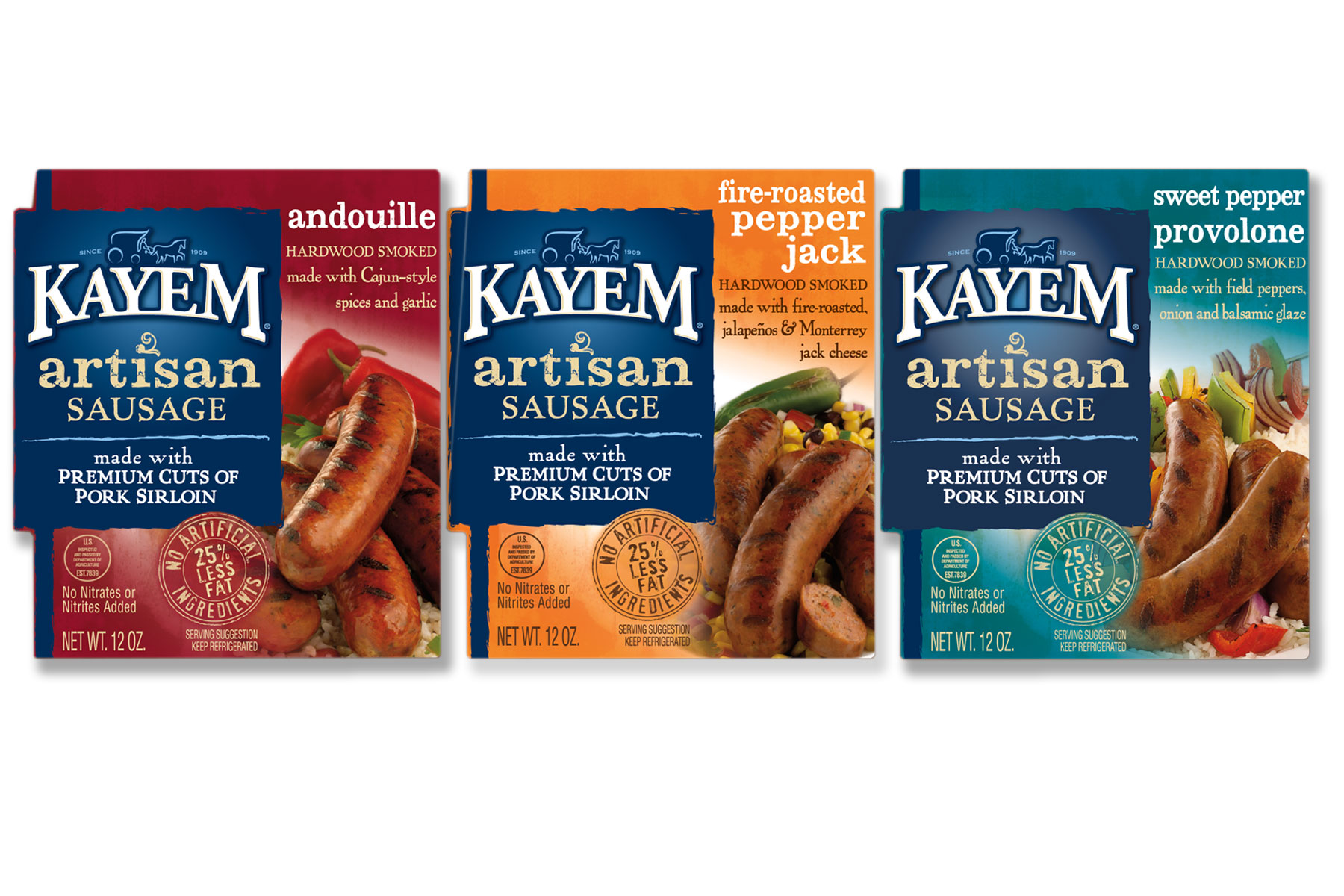 Kayem Artisan Sausages Packaging