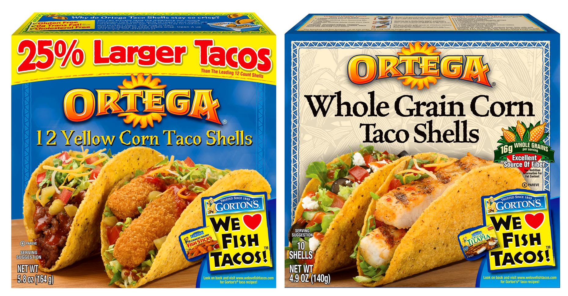 Ortega Taco Packaging Photo