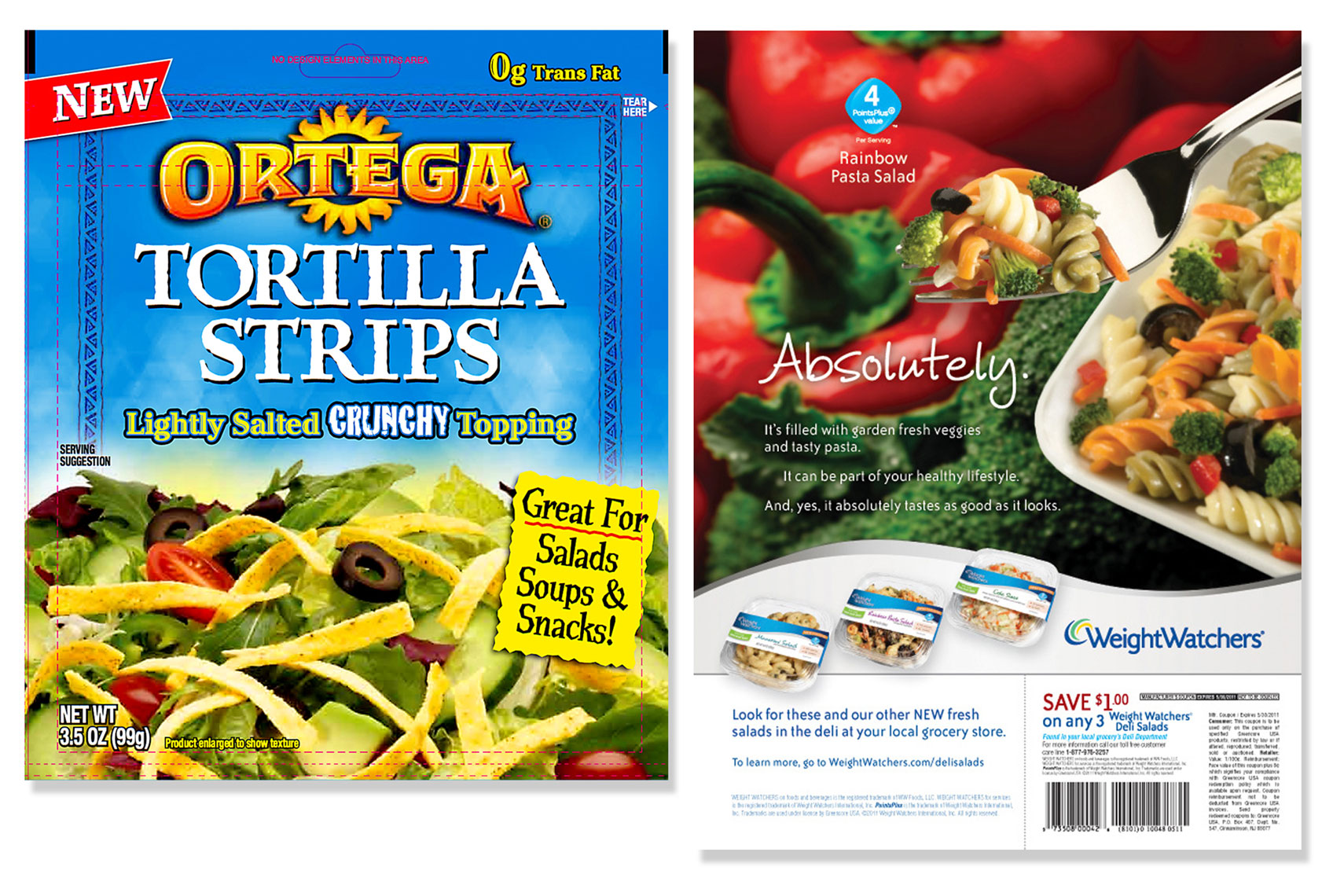 Ortega Tortilla Strips Packaging Photo