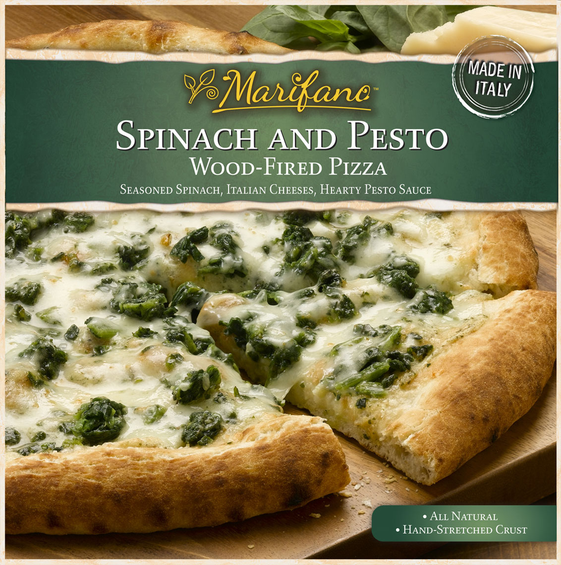 Spinach Pizza Packaging Photo