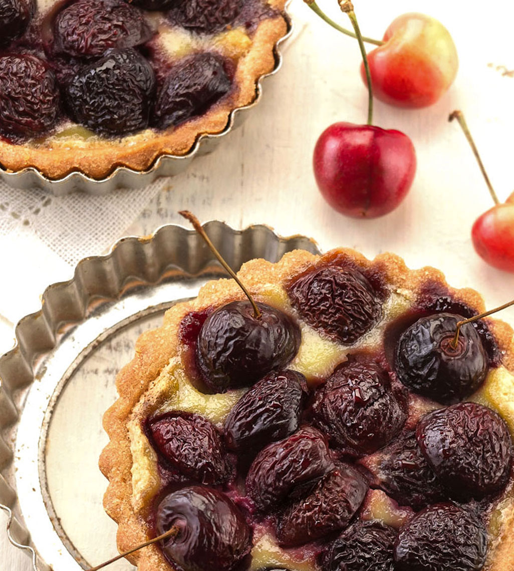 Cherry Tart Editorial Food Photo