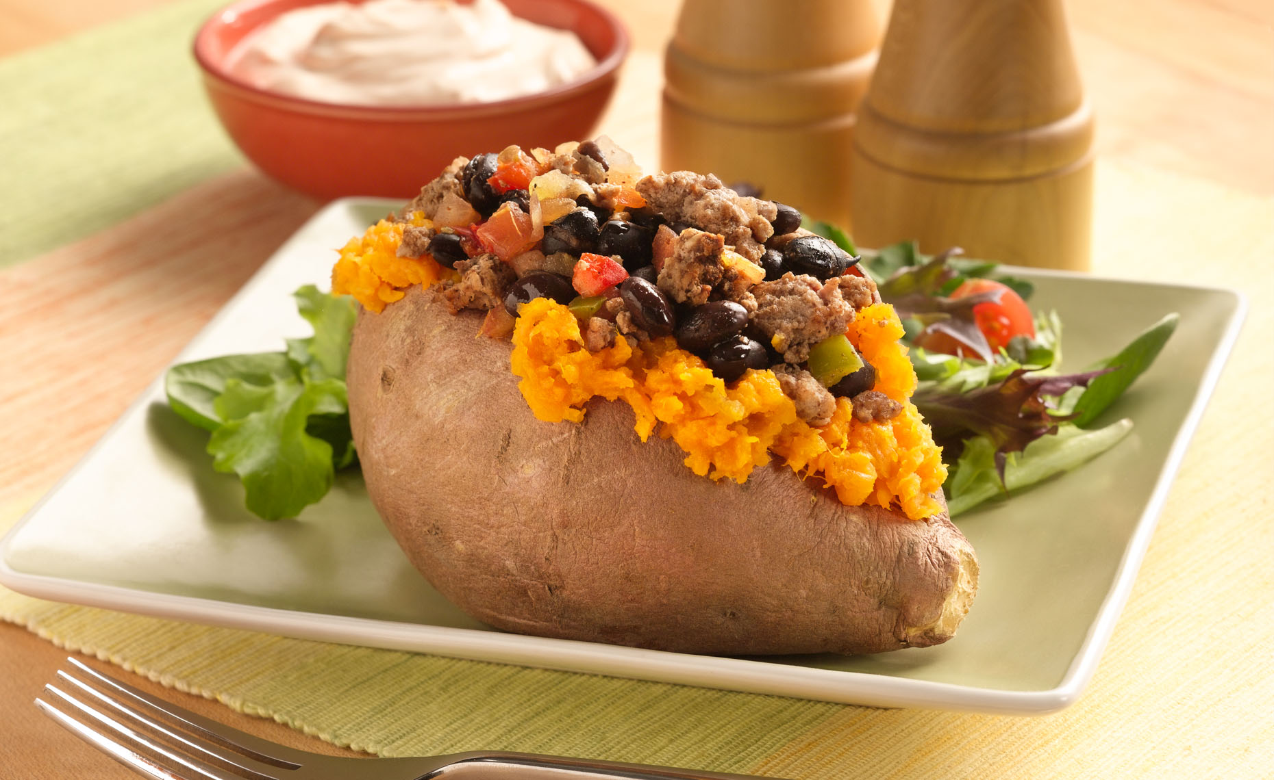 Stuffed Sweet Potato Food Photo